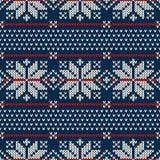 Σχέδιο πουλόβερ χειμερινών διακοπών στην πλεκτή μαλλί σύσταση Στοκ εικόνες με δικαίωμα ελεύθερης χρήσης