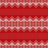 Σχέδιο πουλόβερ Χριστουγέννων πρότυπο άνευ ραφής Στοκ Εικόνα