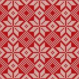 Σχέδιο πουλόβερ Χριστουγέννων πρότυπο άνευ ραφής Στοκ Φωτογραφία