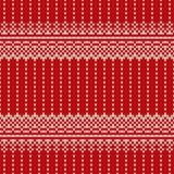 Σχέδιο πουλόβερ Χριστουγέννων πλέκοντας πρότυπο άνευ ρα&p Στοκ Εικόνες