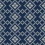 Σχέδιο πουλόβερ Argyle πρότυπο άνευ ραφής Στοκ Εικόνα