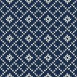 Σχέδιο πουλόβερ Argyle πλεκτό πρότυπο άνευ ραφής Στοκ Εικόνες