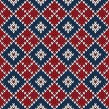 Σχέδιο πουλόβερ Argyle πλεκτό πρότυπο άνευ ραφής Στοκ Φωτογραφία