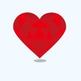 Σχέδιο πολυγώνων αγάπης Στοκ Φωτογραφία