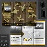 Σχέδιο προτύπων φυλλάδιων Στοκ Εικόνες