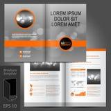 Σχέδιο προτύπων φυλλάδιων Στοκ εικόνες με δικαίωμα ελεύθερης χρήσης
