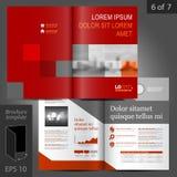 Σχέδιο προτύπων φυλλάδιων Στοκ Φωτογραφίες