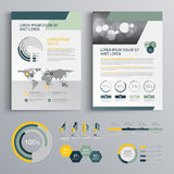Σχέδιο προτύπων φυλλάδιων Στοκ εικόνα με δικαίωμα ελεύθερης χρήσης