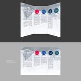 Σχέδιο προτύπων φυλλάδιων Trifold στο μέγεθος DL Στοκ Εικόνες