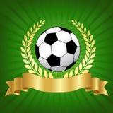 Σχέδιο πρωταθλήματος ποδοσφαίρου με το ποδόσφαιρο Στοκ εικόνα με δικαίωμα ελεύθερης χρήσης