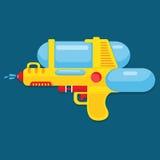 Σχέδιο πυροβόλων όπλων νερού για το καλοκαίρι απεικόνιση αποθεμάτων
