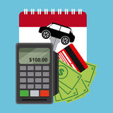 Σχέδιο πώλησης αυτοκινήτων Στοκ φωτογραφία με δικαίωμα ελεύθερης χρήσης