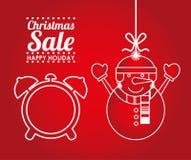 Σχέδιο πώλησης Χριστουγέννων διανυσματική απεικόνιση