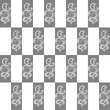 Σχέδιο σε ένα checkerboard ύφος Στοκ Εικόνες