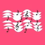 Σχέδιο σημειώσεων μουσικής Στοκ εικόνα με δικαίωμα ελεύθερης χρήσης