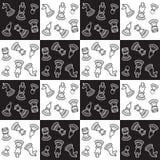 Σχέδιο σκακιού Στοκ φωτογραφίες με δικαίωμα ελεύθερης χρήσης