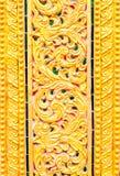 Σχέδιο στο ναό Ταϊλάνδη της Ταϊλάνδης Στοκ Εικόνες