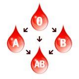 Σχέδιο συμβατότητας αίματος Στοκ φωτογραφία με δικαίωμα ελεύθερης χρήσης