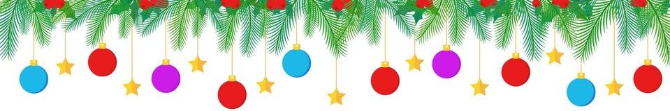 Σχέδιο συνόρων διακοσμήσεων Χριστουγέννων Στοκ Εικόνα
