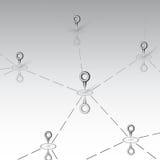Σχέδιο συνδετικότητας πέρα από το γκρίζο διάνυσμα υποβάθρου Στοκ Εικόνες