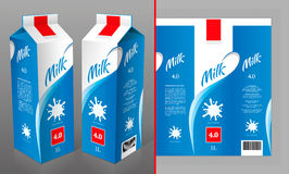 Σχέδιο συσκευασίας γάλακτος Στοκ εικόνα με δικαίωμα ελεύθερης χρήσης