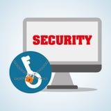 Σχέδιο συστημάτων ασφαλείας, προειδοποίηση και έννοια τεχνολογίας Στοκ Φωτογραφία