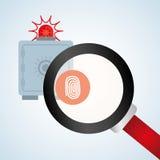 Σχέδιο συστημάτων ασφαλείας, προειδοποίηση και έννοια τεχνολογίας Στοκ Εικόνα
