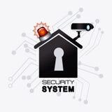 Σχέδιο συστημάτων ασφαλείας ελεύθερη απεικόνιση δικαιώματος