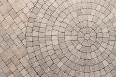Σχέδιο σχεδίου κύκλων στην επίστρωση patio Στοκ Εικόνες