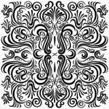 Σχέδιο σχεδίου με το στροβιλιμένος floral διακοσμητικό orn ελεύθερη απεικόνιση δικαιώματος