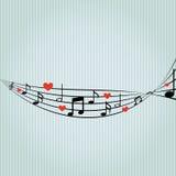 σχέδιο σχεδίων μουσικής Στοκ φωτογραφία με δικαίωμα ελεύθερης χρήσης