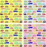 Σχέδιο σχεδίων οχημάτων μωρών Στοκ εικόνες με δικαίωμα ελεύθερης χρήσης