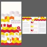 Σχέδιο σχεδιαγράμματος φυλλάδιων Στοκ Εικόνα