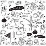 Σχέδιο σχολικού Doodle Στοκ Εικόνα