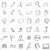 Σχέδιο σχολικού Doodle Στοκ φωτογραφία με δικαίωμα ελεύθερης χρήσης