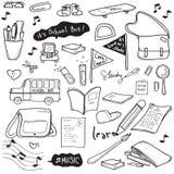 Σχέδιο σχολικού Doodle Στοκ Εικόνες