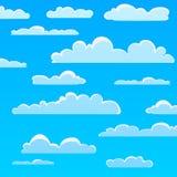Σχέδιο σύννεφων κινούμενων σχεδίων Στοκ φωτογραφία με δικαίωμα ελεύθερης χρήσης