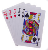 Σχέδιο τέσσερα ενός καλού πόκερ ο Στοκ Εικόνες