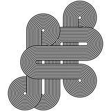 Σχέδιο τέχνης γραμμών Στοκ Φωτογραφίες