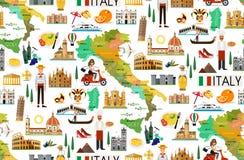 Σχέδιο ταξιδιού της Ιταλίας απεικόνιση αποθεμάτων