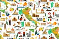 Σχέδιο ταξιδιού της Ιταλίας διανυσματική απεικόνιση