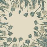 Σχέδιο ταυτότητας Doodle με συρμένη τη χέρι διακόσμηση λουλουδιών Στοκ Εικόνα