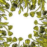 Σχέδιο ταυτότητας Doodle με συρμένη τη χέρι floral διακόσμηση Στοκ εικόνα με δικαίωμα ελεύθερης χρήσης