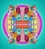 Σχέδιο τεράτων Doodle Στοκ φωτογραφία με δικαίωμα ελεύθερης χρήσης