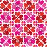 Σχέδιο της άνευ ραφής σύστασης καρδιών διανυσματική απεικόνιση
