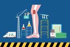 Σχέδιο της έννοιας υγειονομικής περίθαλψης, απεικόνιση Στοκ Εικόνα