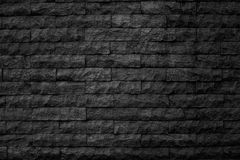 Σχέδιο της διακοσμητικής μαύρης επιφάνειας τοίχων πετρών πλακών Στοκ εικόνα με δικαίωμα ελεύθερης χρήσης