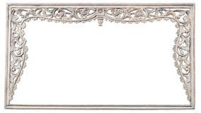 Σχέδιο της ξύλινης γλυπτικής πλαισίων που απομονώνεται στο λευκό Στοκ Εικόνες
