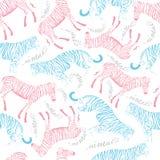Σχέδιο της τίγρης και του με ραβδώσεις Στοκ Εικόνες