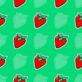 Σχέδιο της φράουλας Στοκ Εικόνες